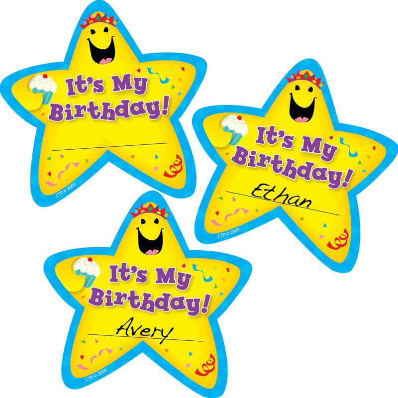 it's my birthday stickers ; 702923