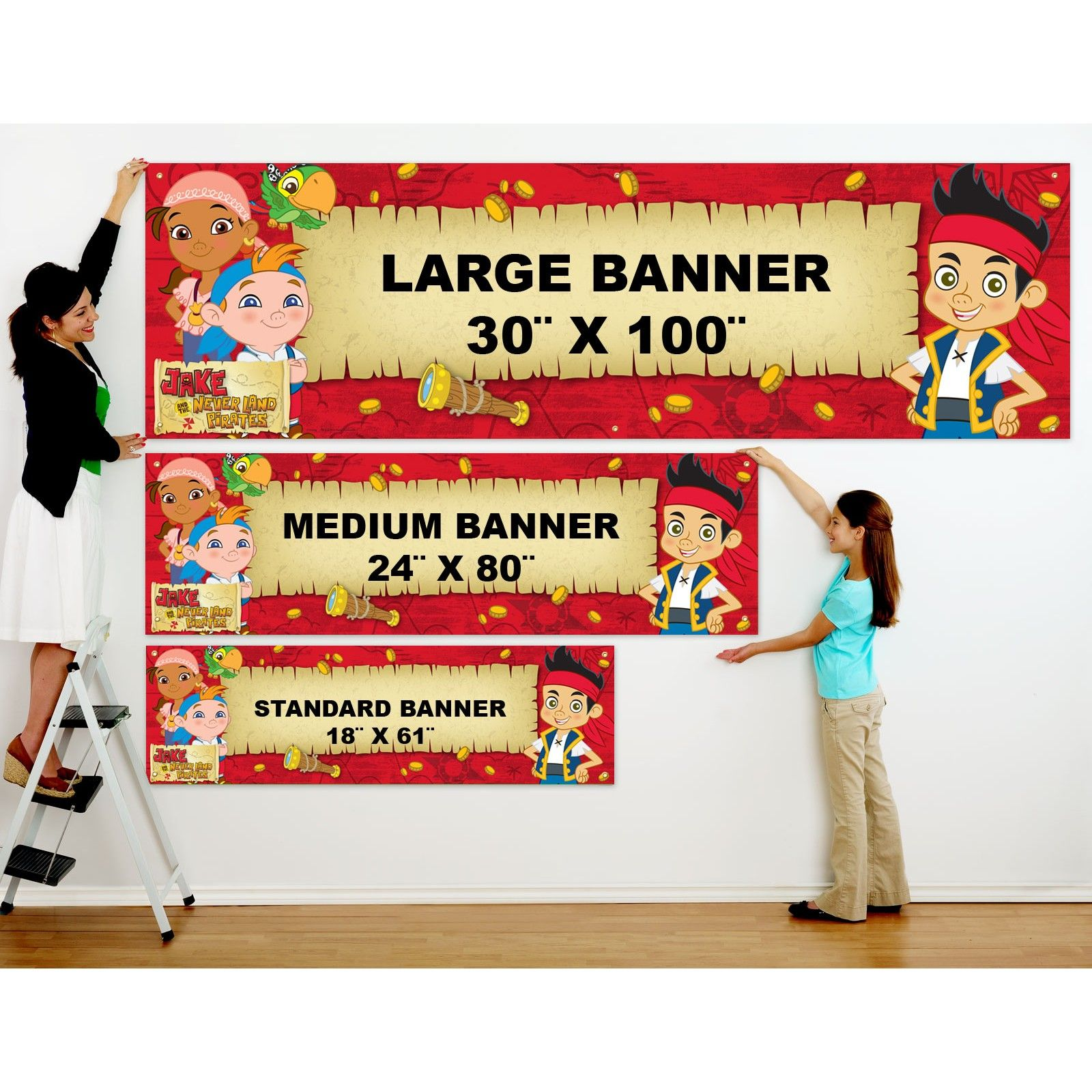 jake and the neverland pirates birthday banner ; 6fbf099271fc835ef68619d7d612ebec
