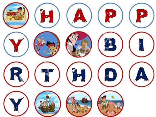 jake and the neverland pirates birthday banner ; b7614bfe130841e67a759816c792e5f0--birthday-decorations-birthday-banners