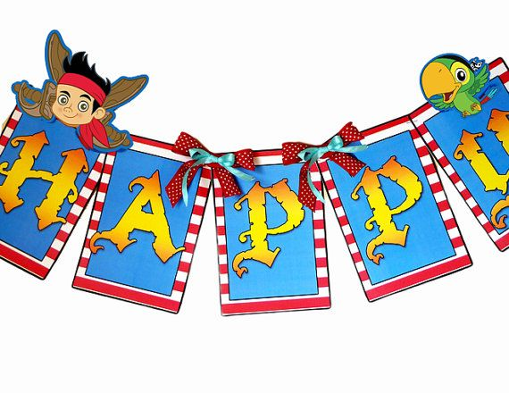jake and the neverland pirates birthday banner ; db699ea2a7c05f366c0993bcac9ead85