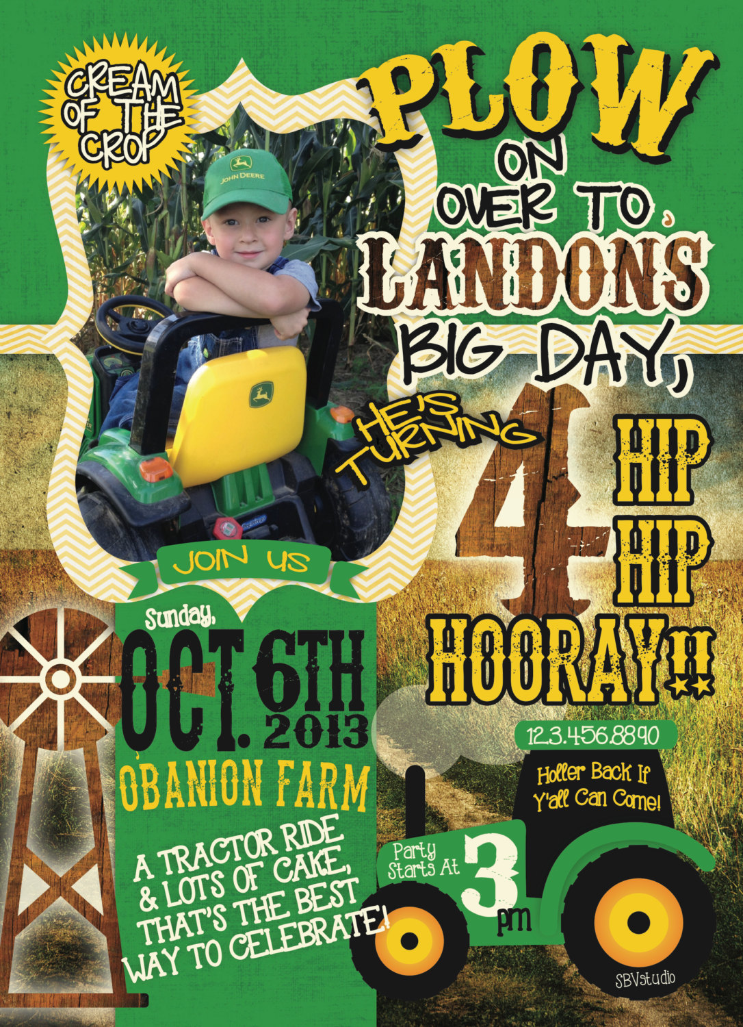 john deere birthday invitations with photo ; 1000_images_about_party_like_a_rockstar_on_ajordanscart_com_6