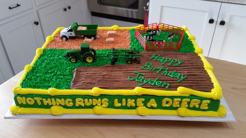 john deere birthday sheet cakes ; 20160123_121532