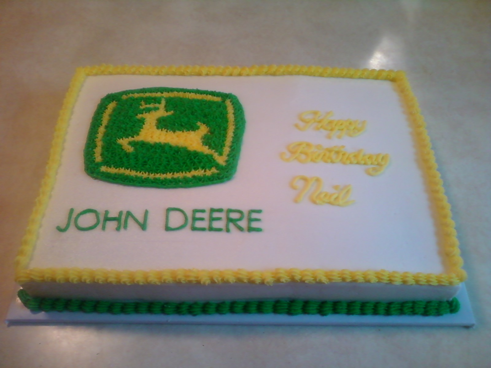 john deere birthday sheet cakes ; Photo09081126