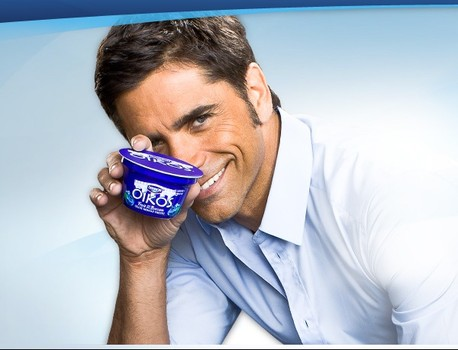 john stamos birthday picture ; Stamos-yogurt