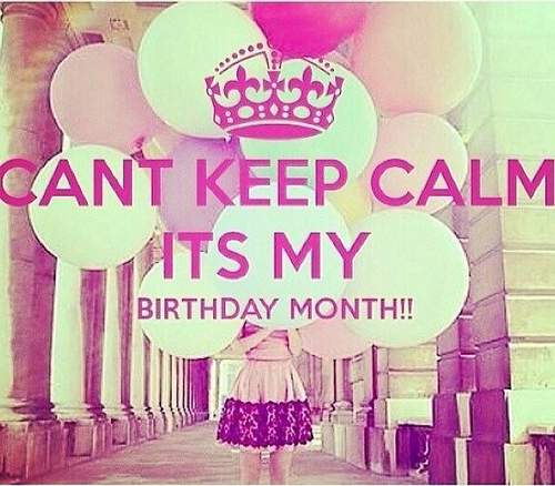 keep calm it's my birthday month wallpaper ; large