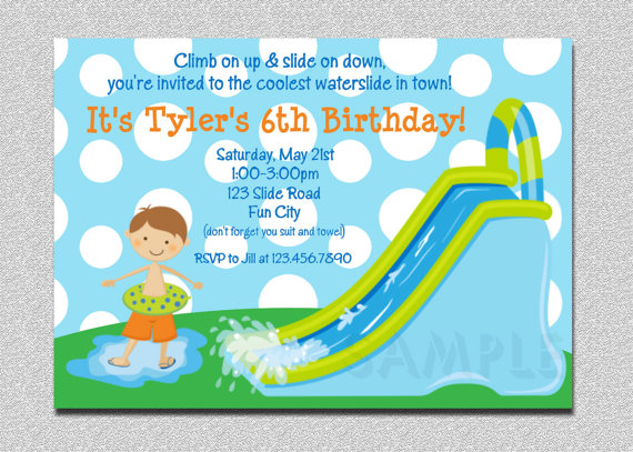 kids birthday party invitations with photo ; il_570xN