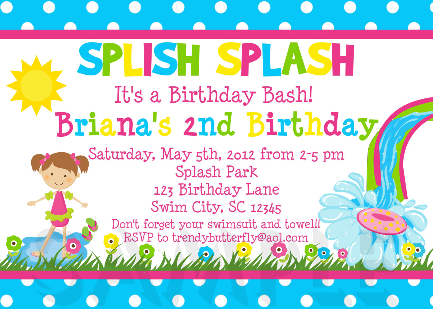 kids birthday party invitations with photo ; kids-wording-birthday-party-invitation-card-magnificent-designing-template-white-background