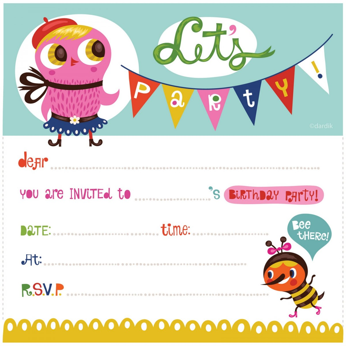 kids birthday party invitations with photo ; kids_birthday_party_invitation_template_free_3