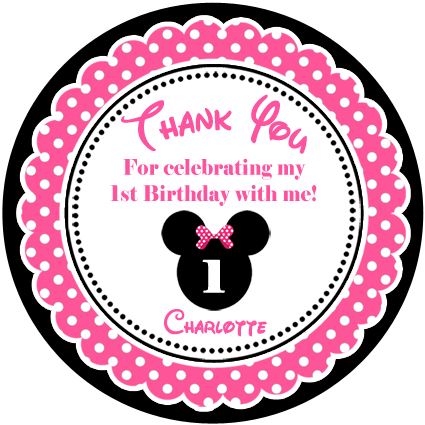 kids birthday stickers ; 3_a0a55ac3b50c4372b8e8f5b143795d47minnie_mouse_pink_black