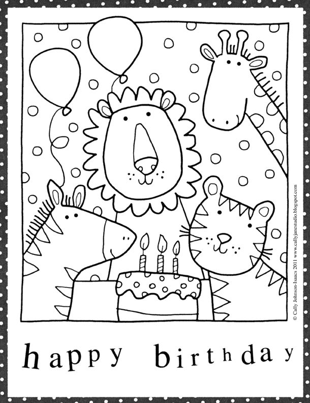 kids coloring birthday cards ; 04f1b16fe742e02c419f38ba0006b1f7