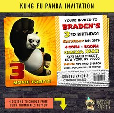 kung fu panda birthday invitation printable ; 06d59af3cadfa85e2a7a857395417878--panda-birthday-th-birthday