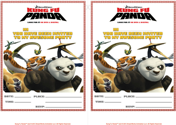 kung fu panda birthday invitation printable ; 1c4f28736c06b3e62959b0538f206b5c