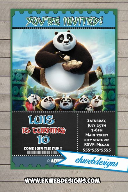 kung fu panda birthday invitation printable ; 931b039619d215aecad55f90a9658ce9