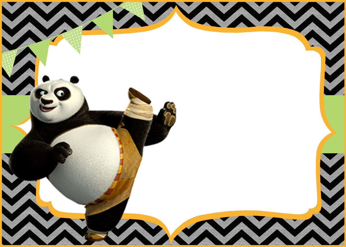 kung fu panda birthday invitation printable ; Cute-Kung-Fu-Panda-Free-Printable-Template