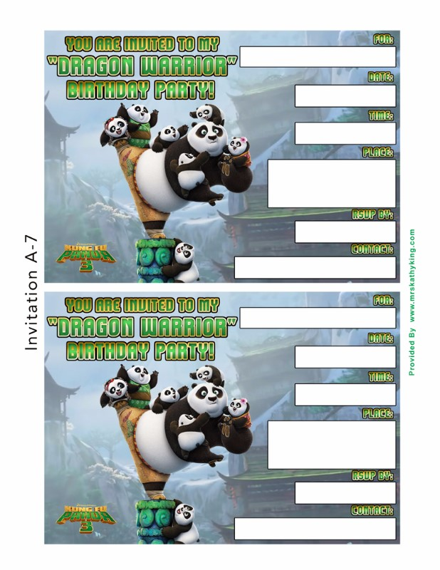 kung fu panda birthday invitation printable ; kung-fu-panda-3-Invitation