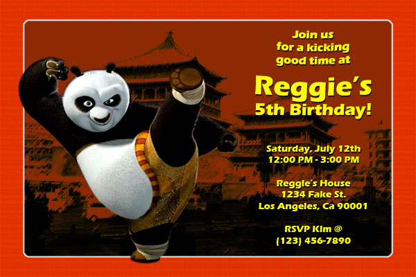 kung fu panda birthday invitation printable ; kung-fu-panda-invitations
