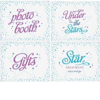 large birthday signs ; Under-the-Stars-Large-Signs-8x10