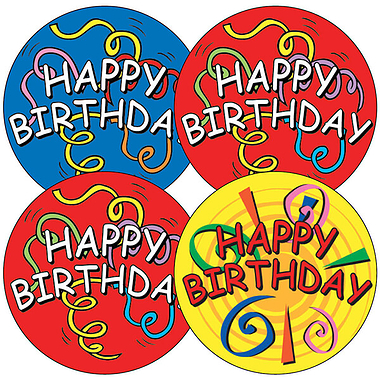 large happy birthday stickers ; A82_1_Large