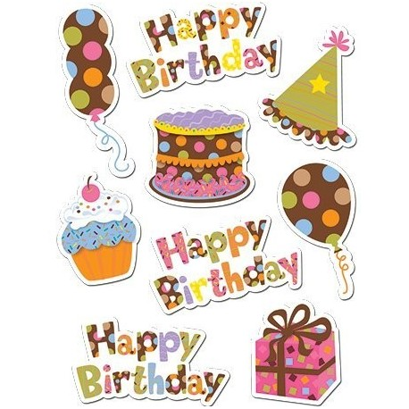 large happy birthday stickers ; dots-on-chocolate-happy-birthday-stickers