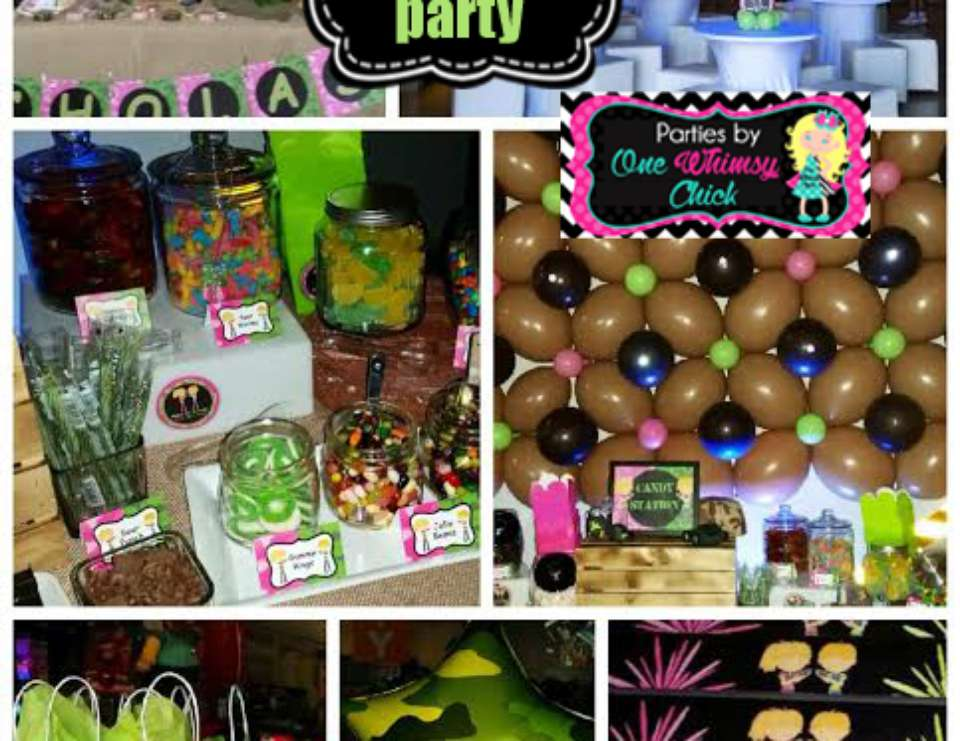 laser tag birthday party favors ; boy_girl_camo_laser_tag_party