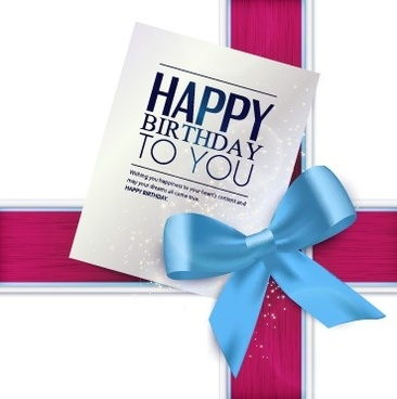 latest birthday greeting cards ; happy_birthday_greeting_card_with_bow_vector_542644