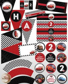 lightning mcqueen birthday banner printable ; 4af6bdf100db2c254c7387dfc4682e0a--car-birthday-birthday-party-ideas