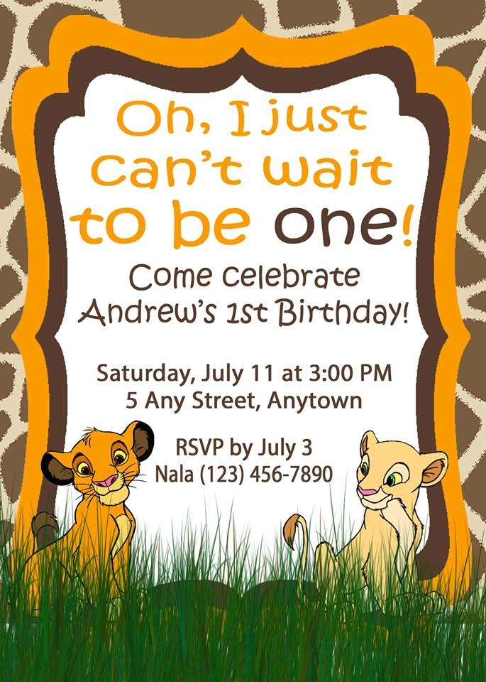lion king birthday invitation template free ; 0528-ANDREW-SIMBA-NO-PICTURE-2