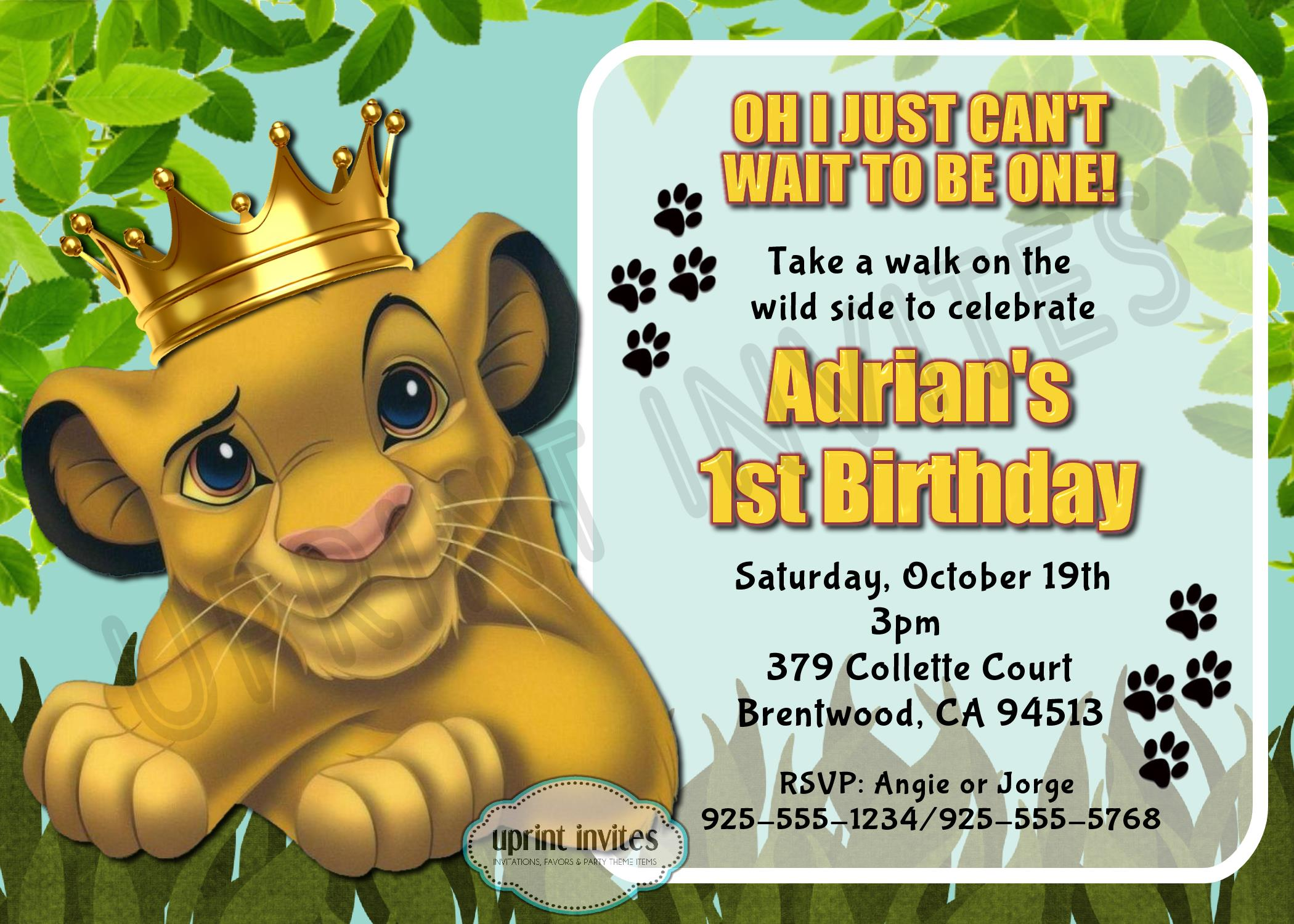 lion king birthday invitation template free ; lion-king-birthday-invitations-with-pretty-Birthday-Invitation-Templates-as-a-result-of-an-application-using-a-felicitous-concept-1