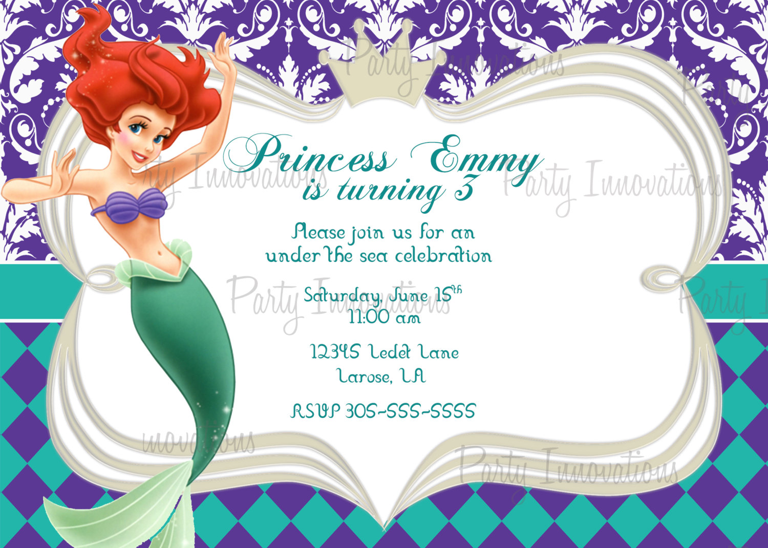 little mermaid photo birthday invitations ; little-mermaid-birthday-invitations-for-invitations-your-Birthday-Invitation-Templates-by-implementing-elegant-motif-concept-12