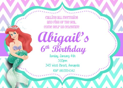little mermaid photo birthday invitations ; little-mermaid-birthday-invitations-together-with-a-picturesque-view-of-your-Birthday-Invitation-Templates-using-divine-invitations-5