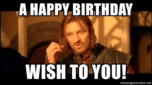 lord of the rings happy birthday ; 66067991