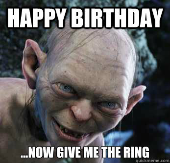 lord of the rings happy birthday ; large