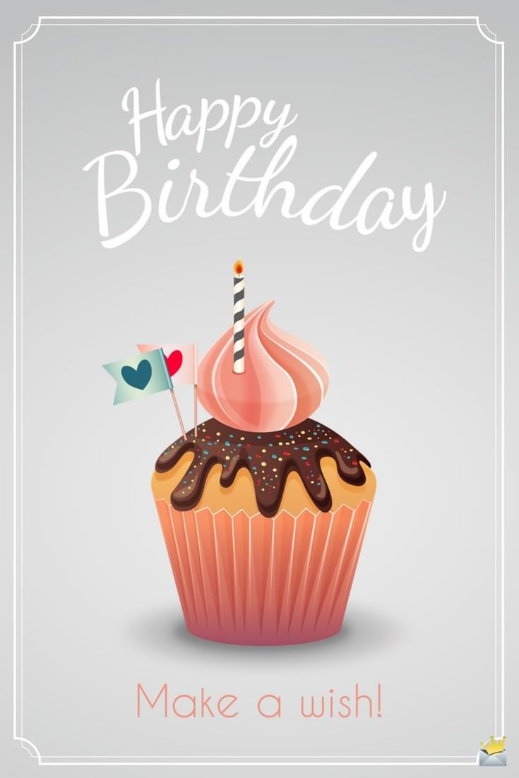 make a birthday wish image ; Birthday-Message-for-a-female-friend-on-pic-with-muffin