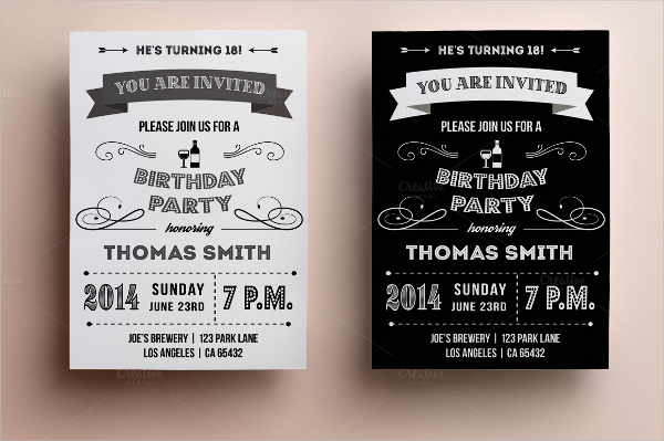 making a birthday invitation in photoshop ; Retro-Birthday-Invitation-Design
