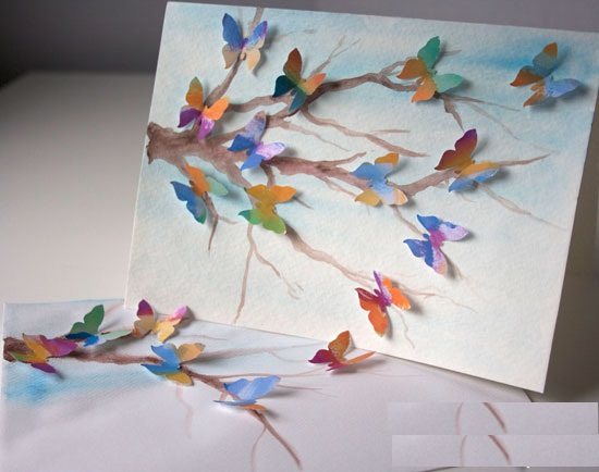 making birthday greeting cards at home ; creative-ideas-to-make-greeting-cards-how-i-can-create-a-butterfly-card-at-home-handmade4cards-best