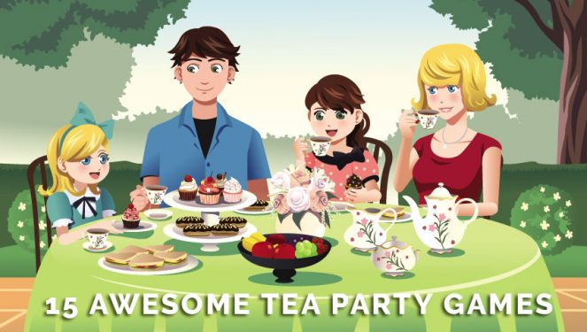 memory drawing of birthday party ; 15-Awesome-Tea-Party-Games-for-Kids-Adults-663x375
