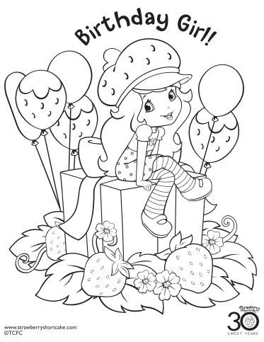memory drawing of birthday party ; 2b42793a16a56c990c14df9e72cf49f4--birthday-coloring-pages-strawberry-shortcake-party