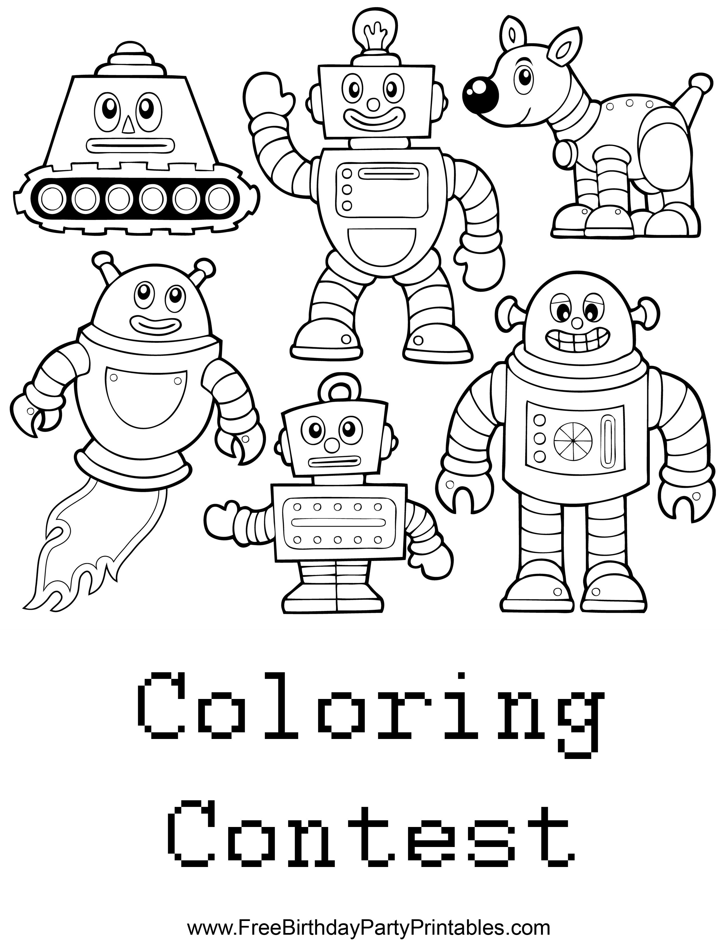memory drawing of birthday party ; Free%2520Robots%2520Birthday%2520Party%2520Coloring%2520Contest%2520Printable%2520Sheet%2520by%2520Free%2520Birthday%2520Party%2520Printables%2520PNG