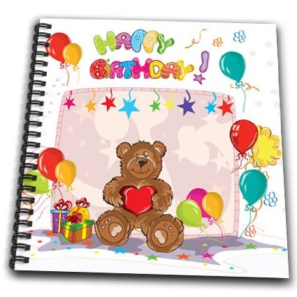 memory drawing of birthday party ; db_104589_2-dooni-designs-birthday-designs-cute-happy-birthday-teddy-bear-colorful-party-vector-design-drawing-book-memo_12330427