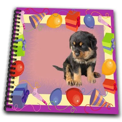 memory drawing of birthday party ; db_30085_2-taiche-photography-rottweiler-puppy-birthday-party-drawing-book-memory-book-12-x-12-inch_20943864