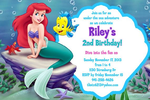 mermaid birthday invitation templates free ; 6d95ce8688624d0e07b49ccf05be32af