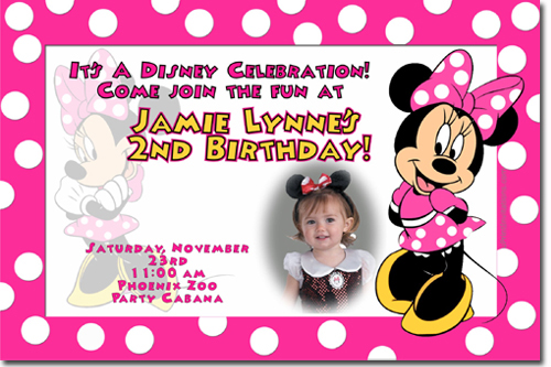 mickey mouse birthday invitation card template ; minnie%2520mouse%2520pink%2520polka%2520dots