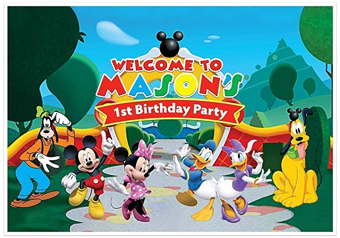 mickey mouse clubhouse birthday poster ; 71kQyngDdFL