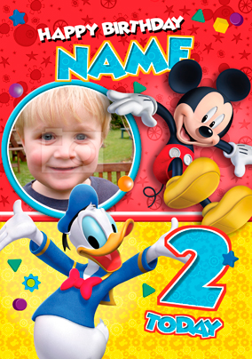 mickey mouse clubhouse birthday poster ; Card_Disney_MickeyCH_PU_Age2b_P