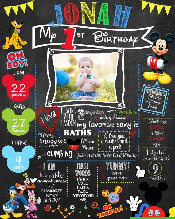 mickey mouse clubhouse birthday poster ; bb0c57f9c73f036dcb6c641d3d04bbf0--birthday-photo-shoots-birthday-photos
