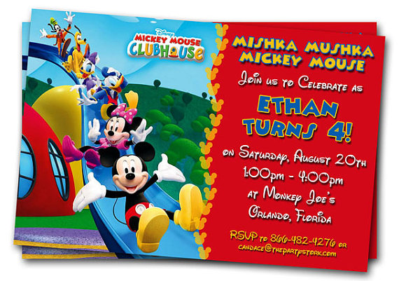 mickey mouse clubhouse birthday poster ; il_570xN