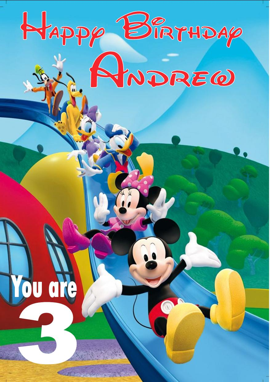 mickey mouse clubhouse birthday poster ; personalised-mickey-mouse-clubhouse-birthday-card-1475-p