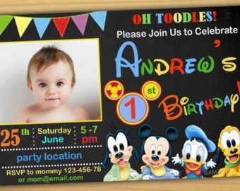 mickey mouse first birthday photo invitations ; Breathtaking-Mickey-Mouse-1St-Birthday-Invitations-To-Make-Free-Birthday-Invitations