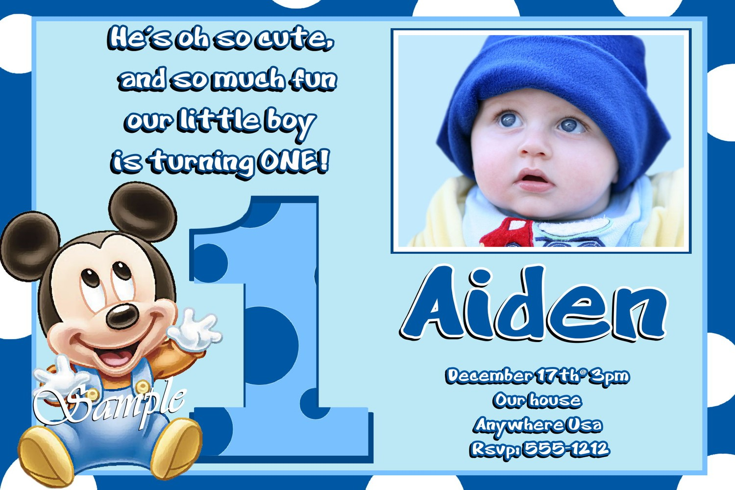 mickey mouse first birthday photo invitations ; Stylish-Mickey-Mouse-1St-Birthday-Invitations-As-An-Extra-Ideas-About-Free-Printable-Birthday-Invitations