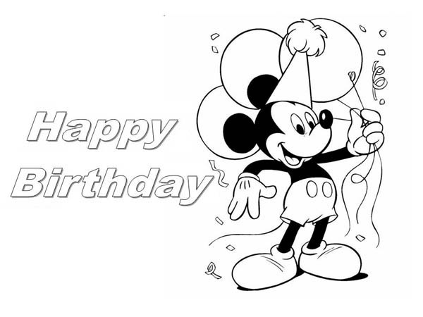 mickey mouse happy birthday coloring page ; Happy-Birthday-Mickey-Mouse-Coloring-Page